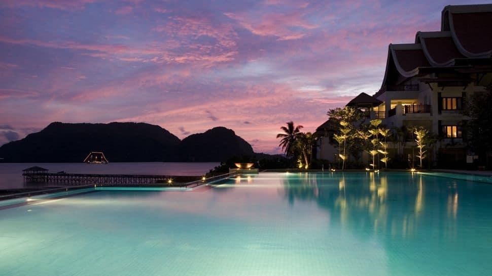 Numeroase hoteluri de lux se regăsesc în Insulele Langkawi