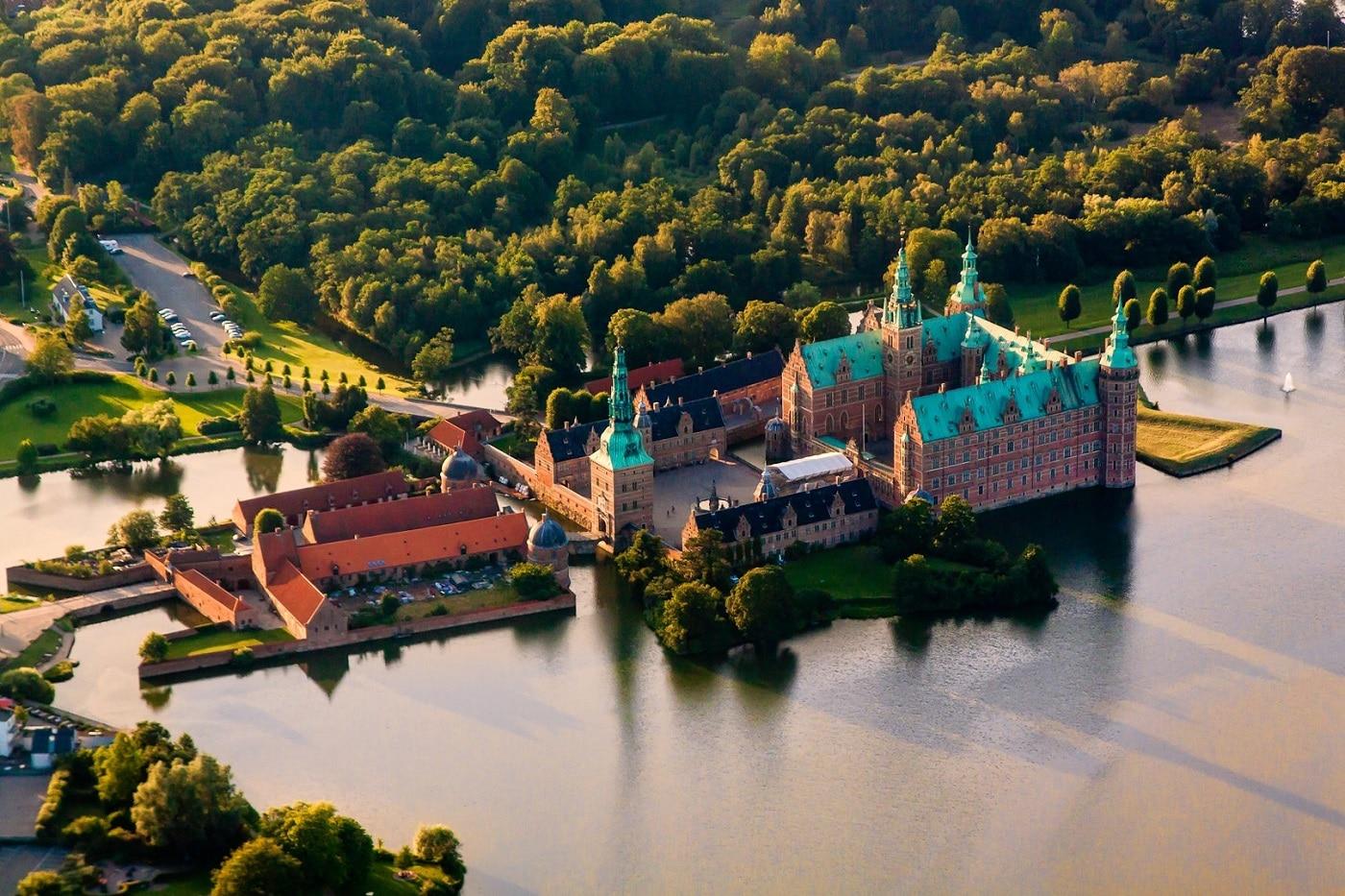 Castelul Frederiksborg, vedere aeriană