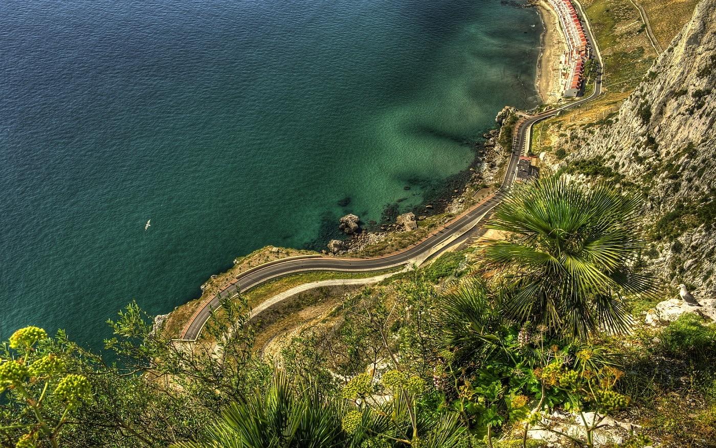 Coasta Gibraltarului, vedere aeriană