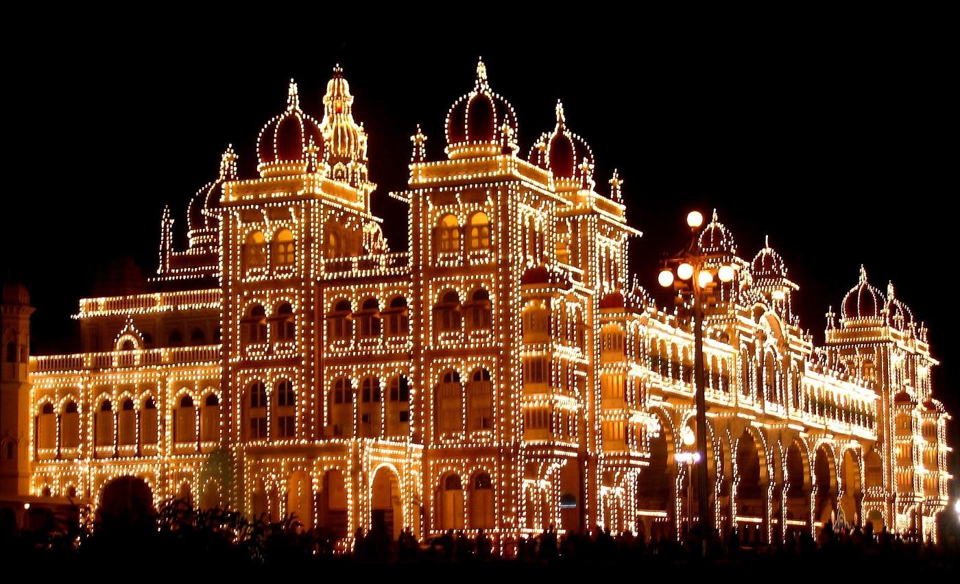 Palatul Mysore, întimpul Festivalului Dasara