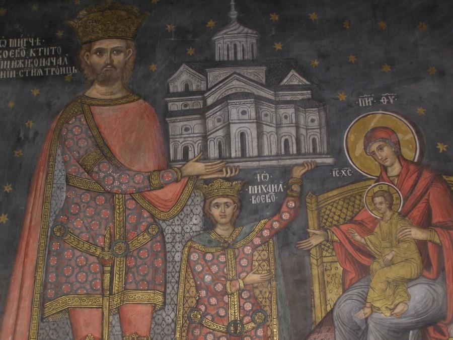 Picturile din interiorul mănăstirii s-au conservat foarte bine în timp