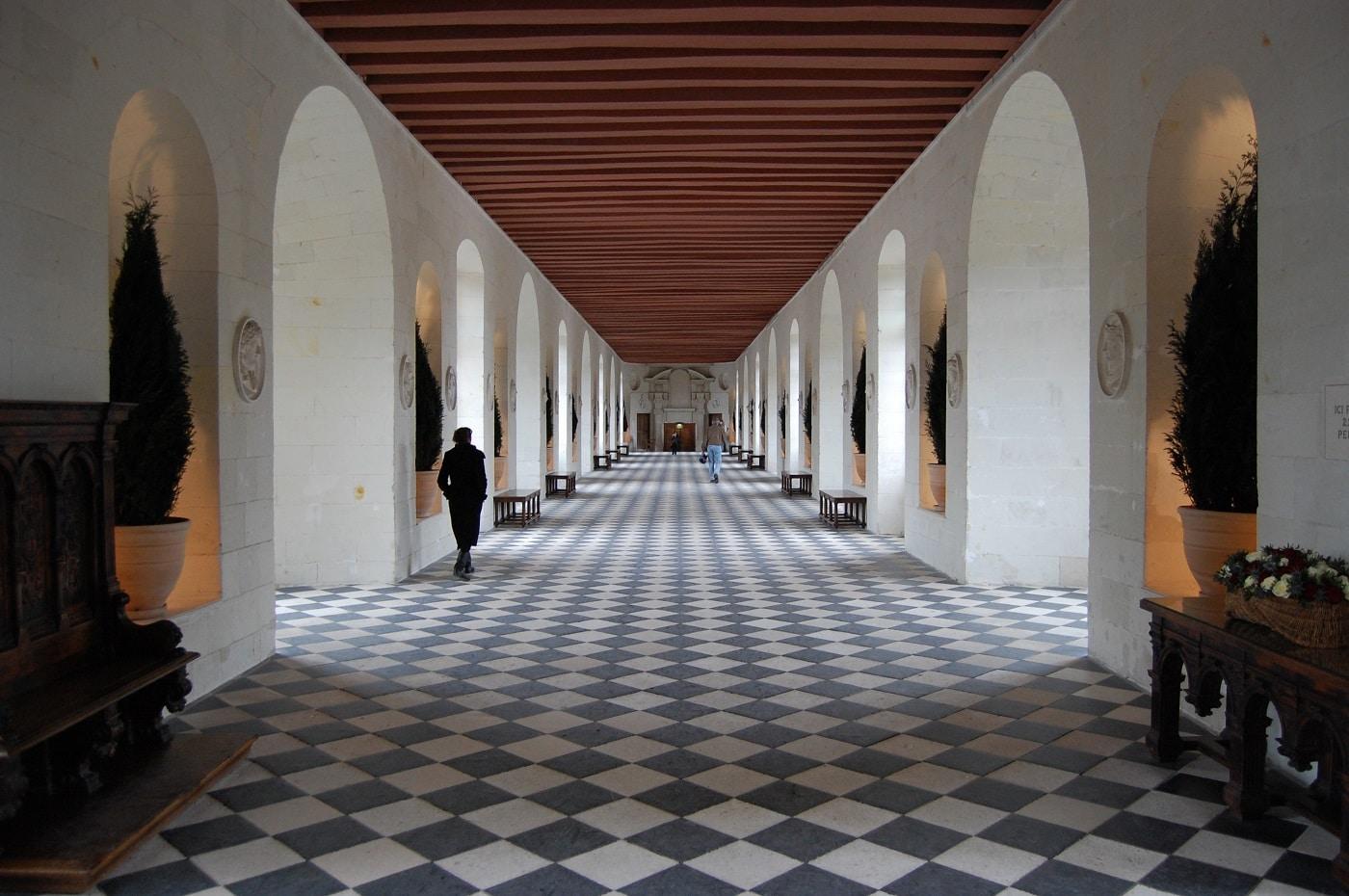 Castelul Chenonceau, hol interior