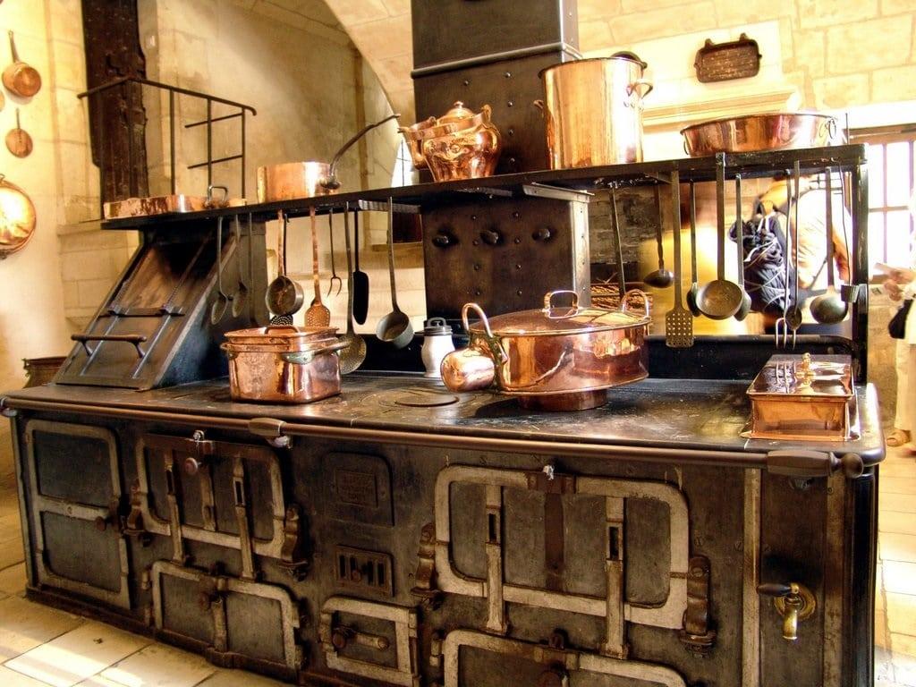 O bucătărie a Castelului Chenonceau