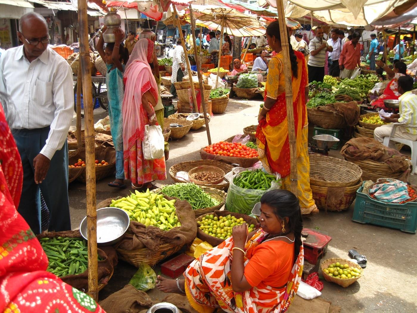 Piaţă din Udaipur