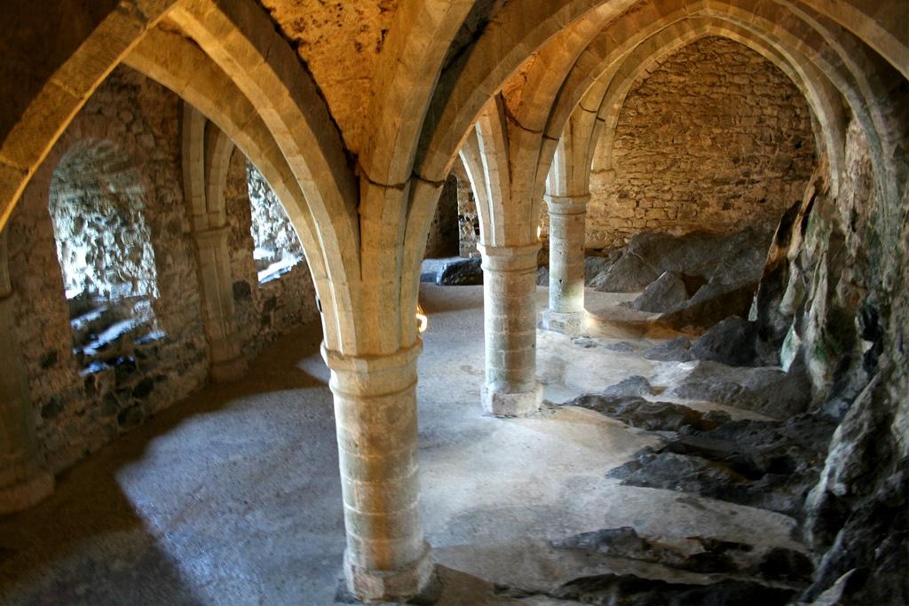 Arcadele interioare ale castelului