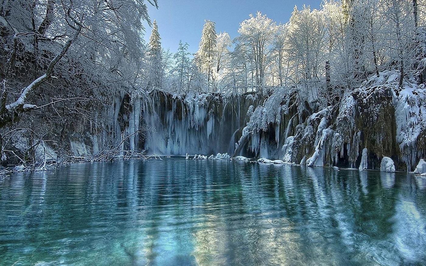 Lacurile Plitvice, iarna