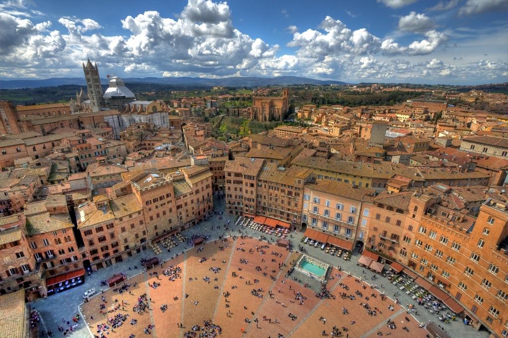 Oraşul Siena, Toscana
