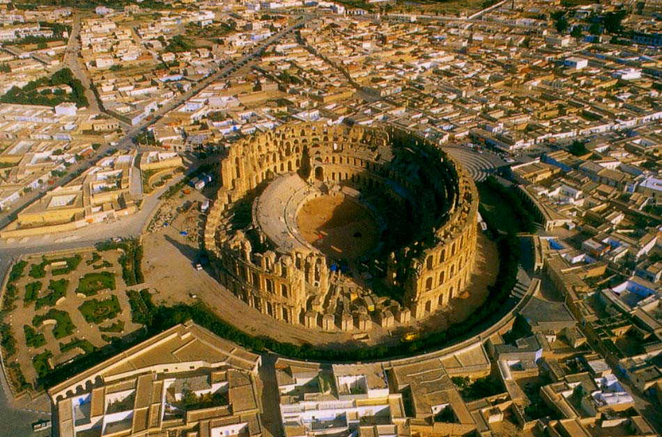 Amfiteatrul El Djem, vedere de ansamblu