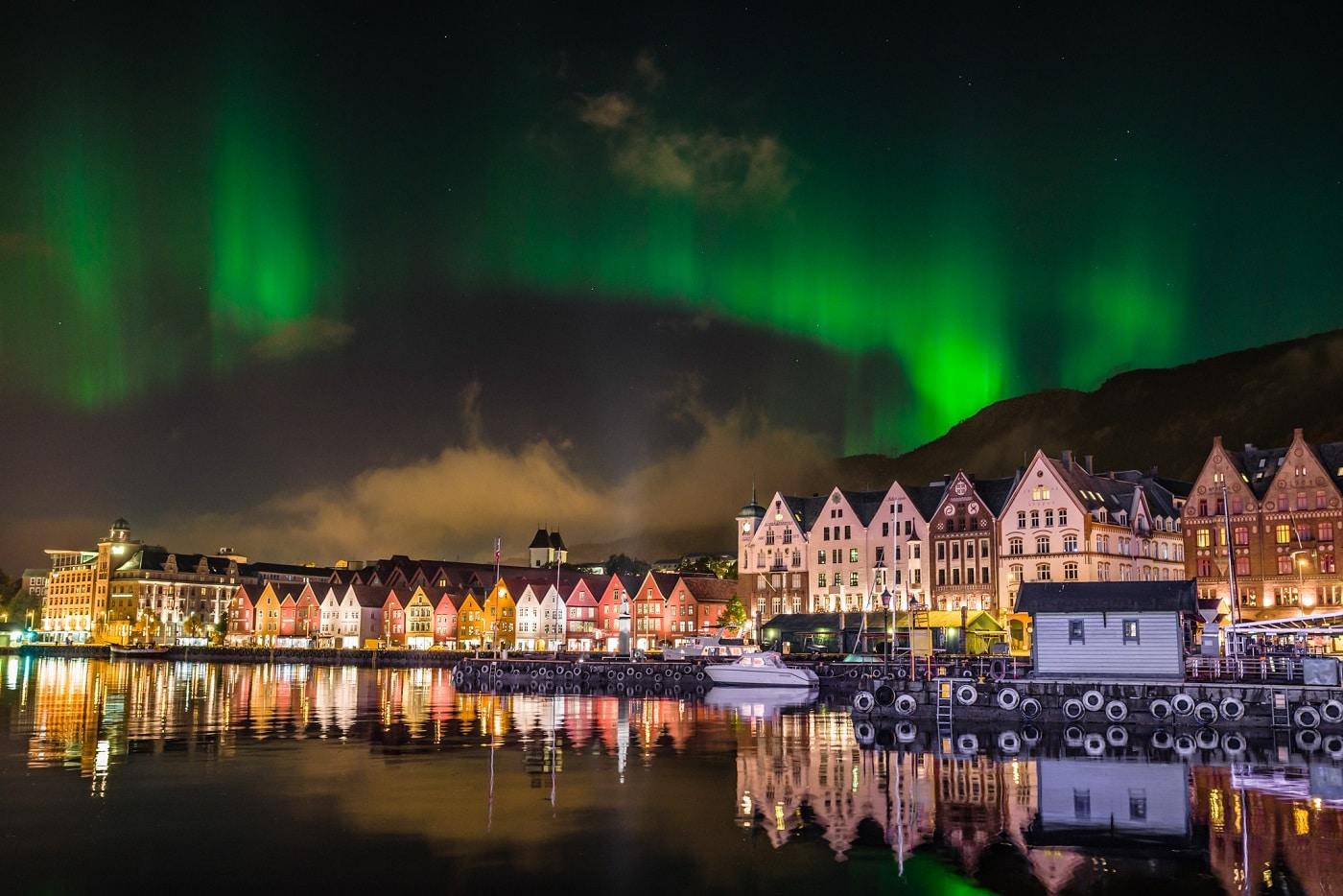 Aurora Boreală în Bergen