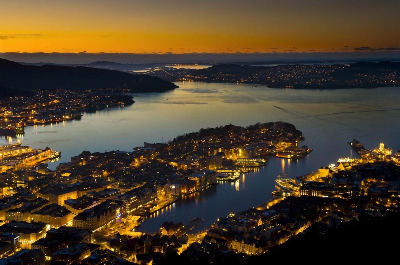 Bergen, noaptea