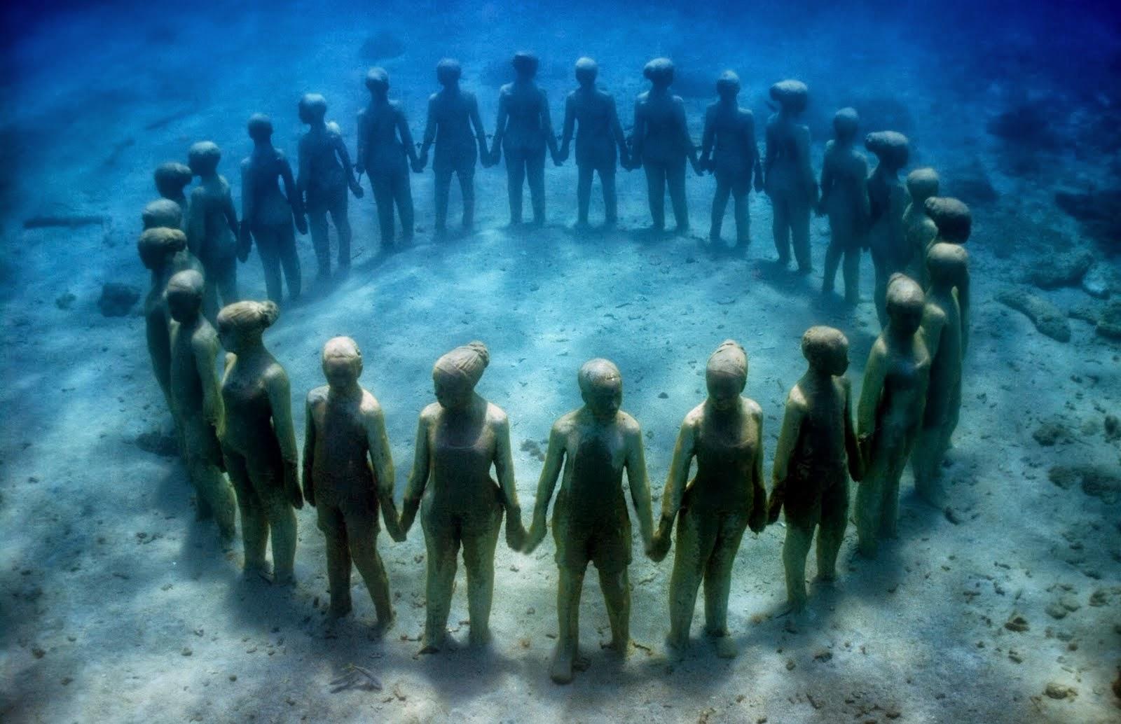 Muzeul subacvatic din Cancun, unic în lume