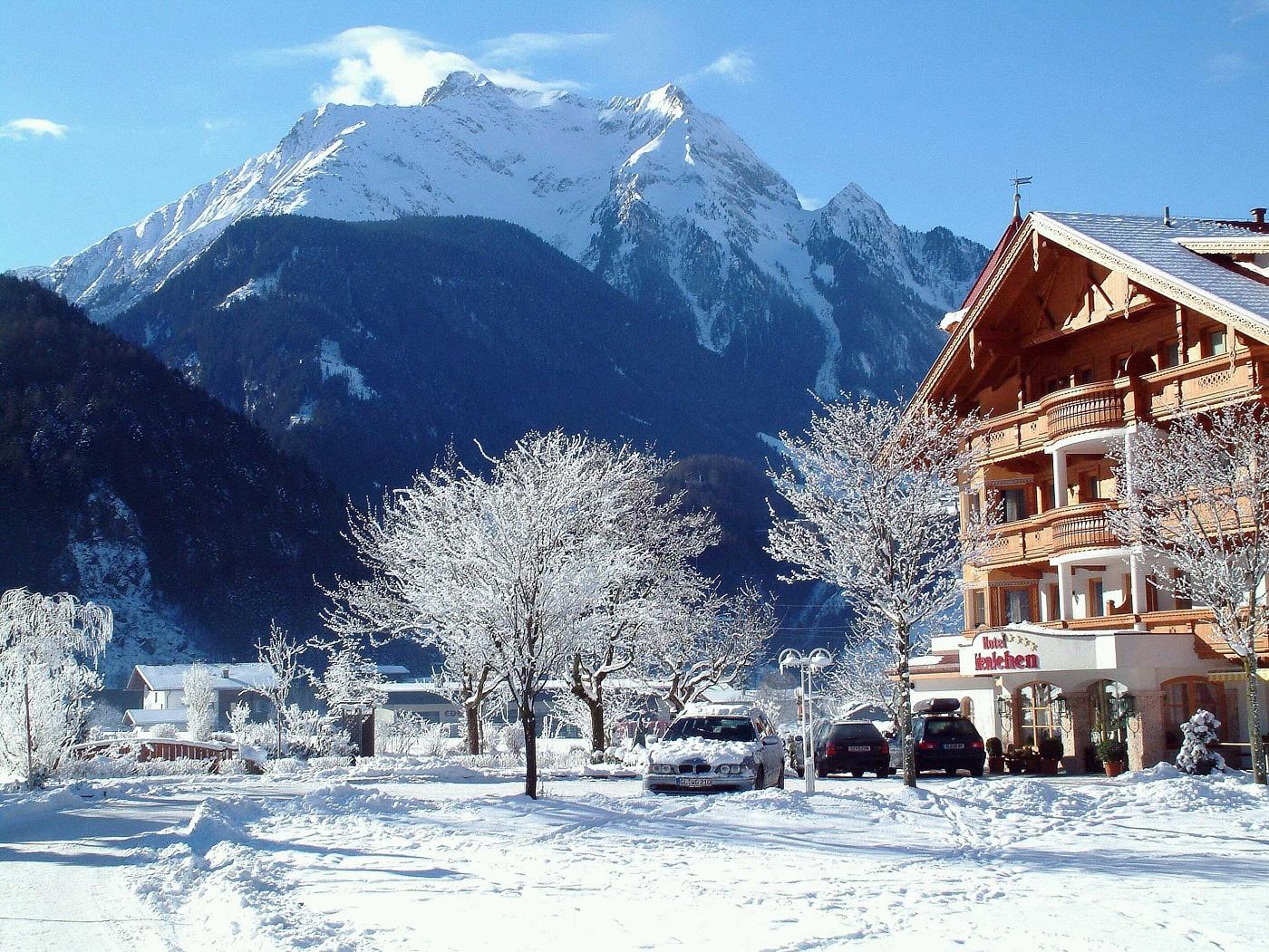Tablou de iarnă din Lech