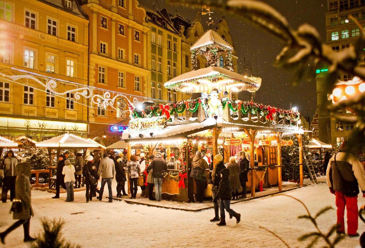 Jarmark Bozonarodzeniowy  - Piața de Crăciun din Breslavia