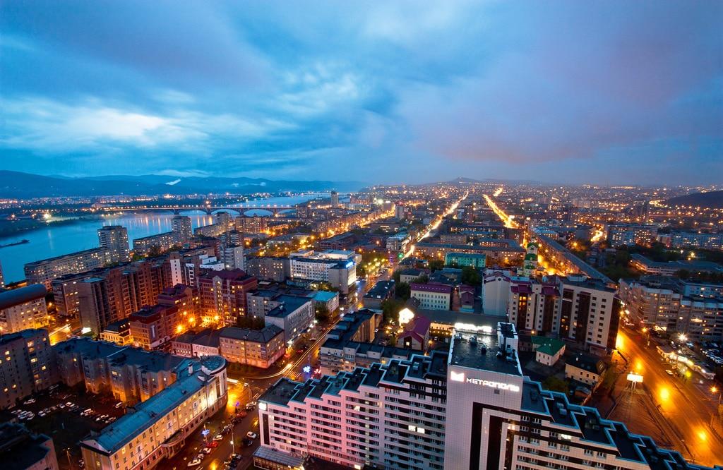 Krasnoyarsk, un oraş modern