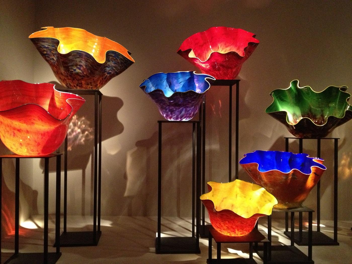 Muzeul de Artă, exponate din sticlă Chihuly