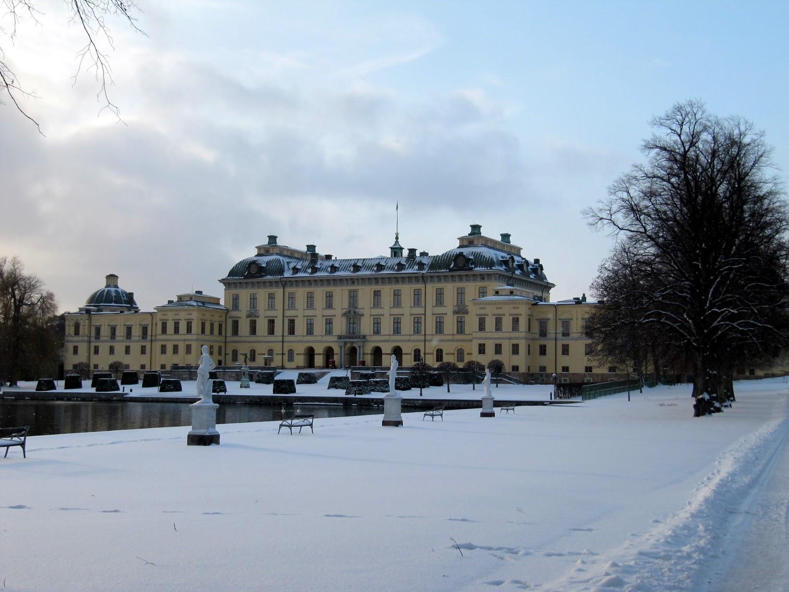 Palatul Drottningholm, iarna