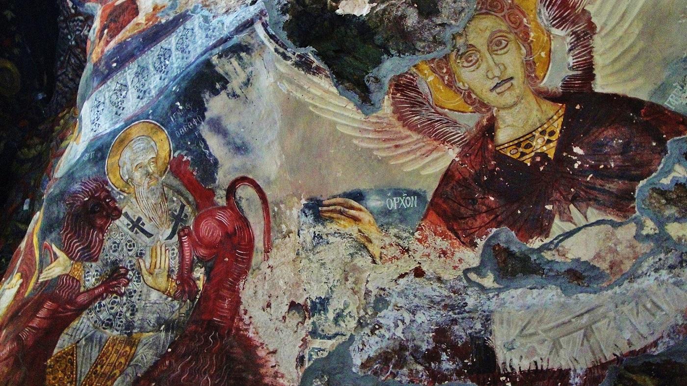 Picturi de mare valoare înfrumusețează interioarele mănăstirii