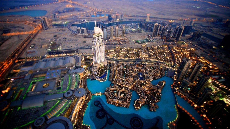 Burj Khalifa, vedere aeriană