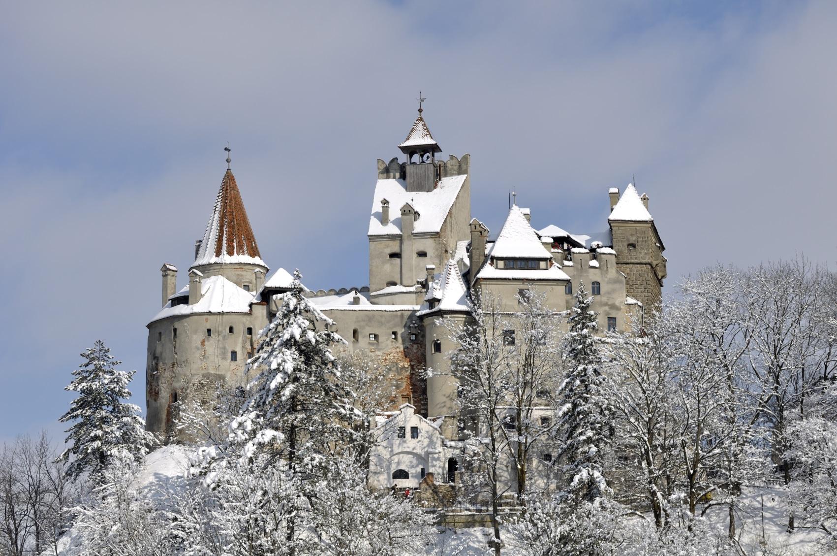 Castelul Bran, iarna