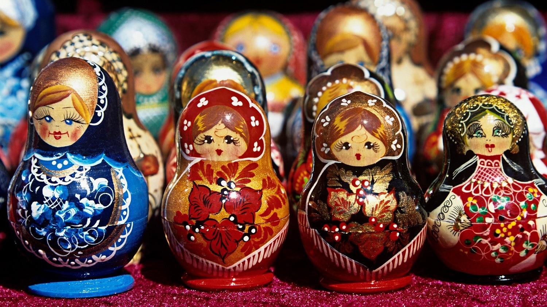 Celebrele Matryoshka se pot cumpăra și din piață