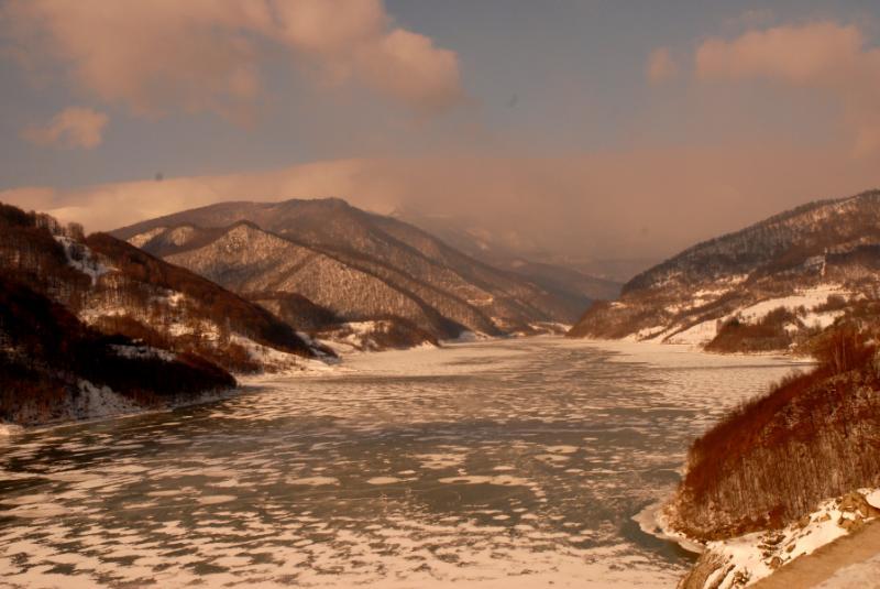 Lacul, iarna