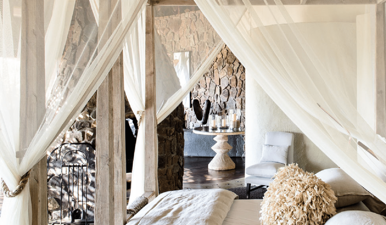 Interiorul luxos al resortului Singita Boulders Lodge