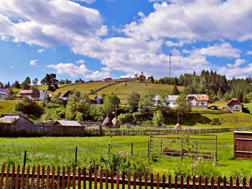 Peisaj rural din satul sucevean