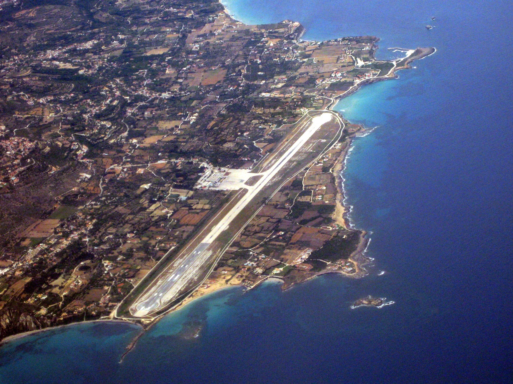 Aeroportul din Kefalonia - imagine panoramică