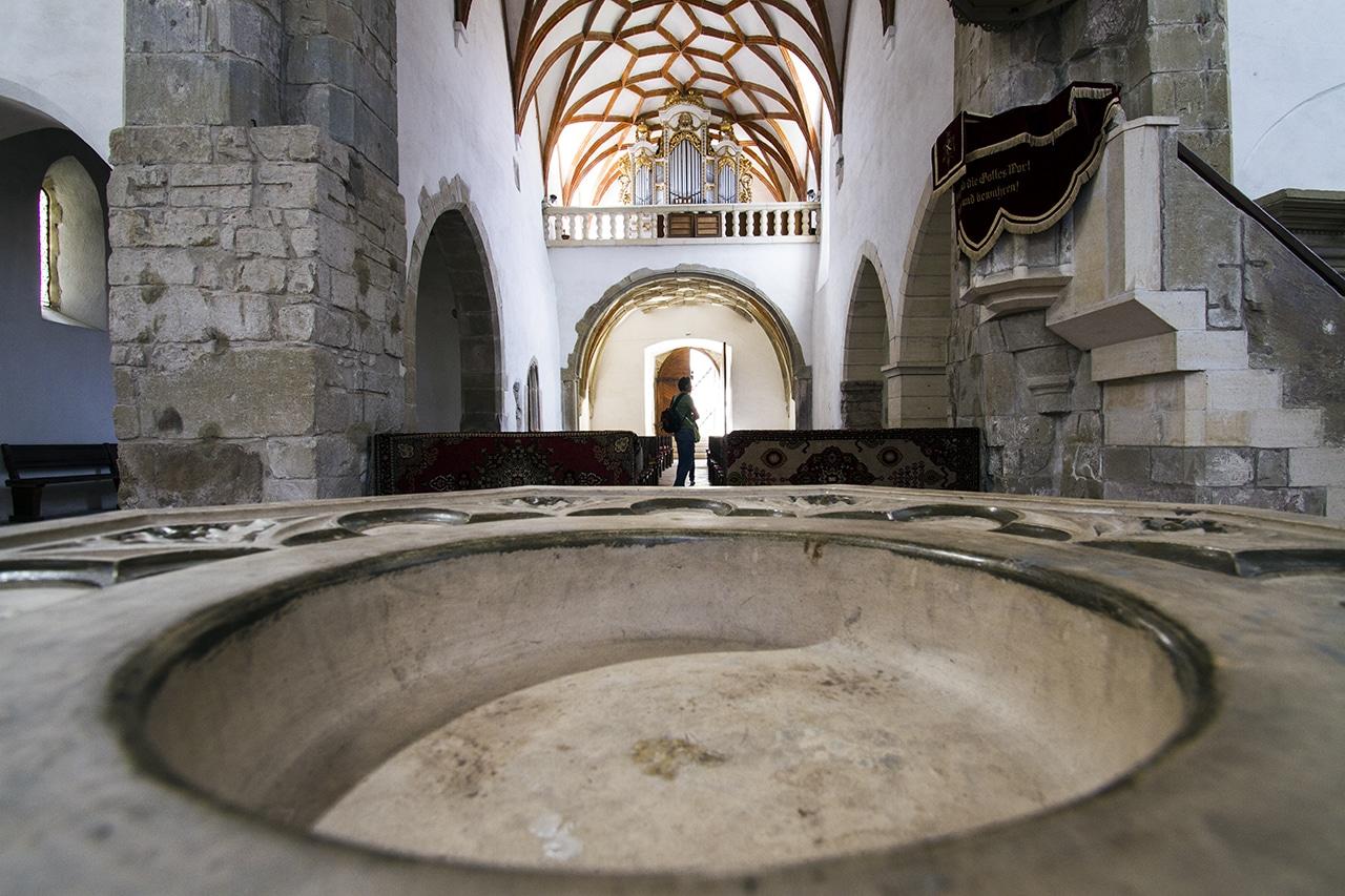 Interior din Cetatea fortificată Prejmer