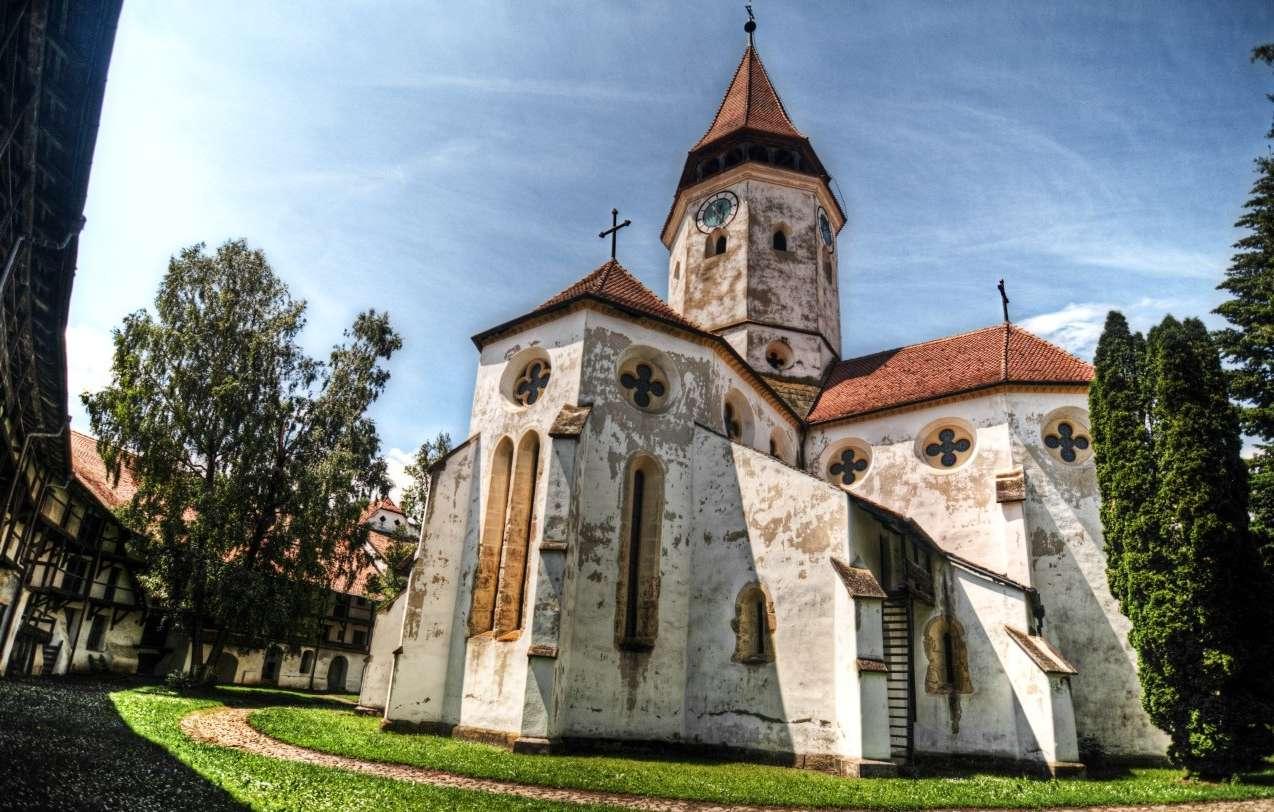 Biserica de piatră din interiorul Cetății Prejmer