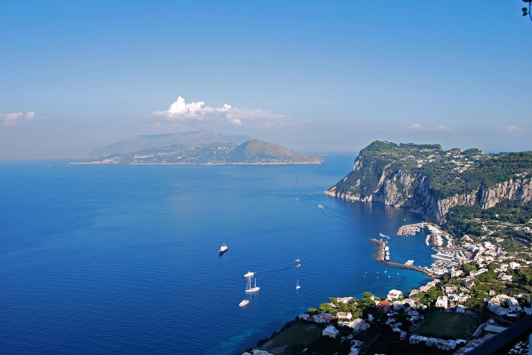 Vedere panoramică din Villa San Michele