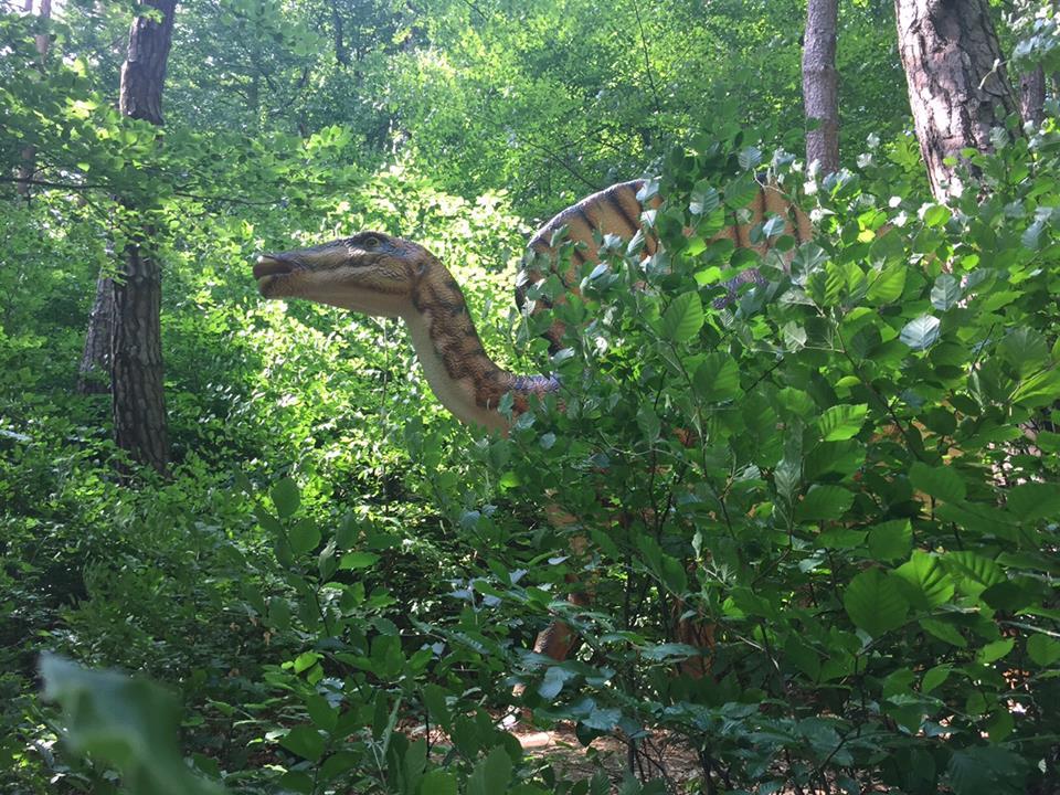 Dinozaur ascuns în tufișuri