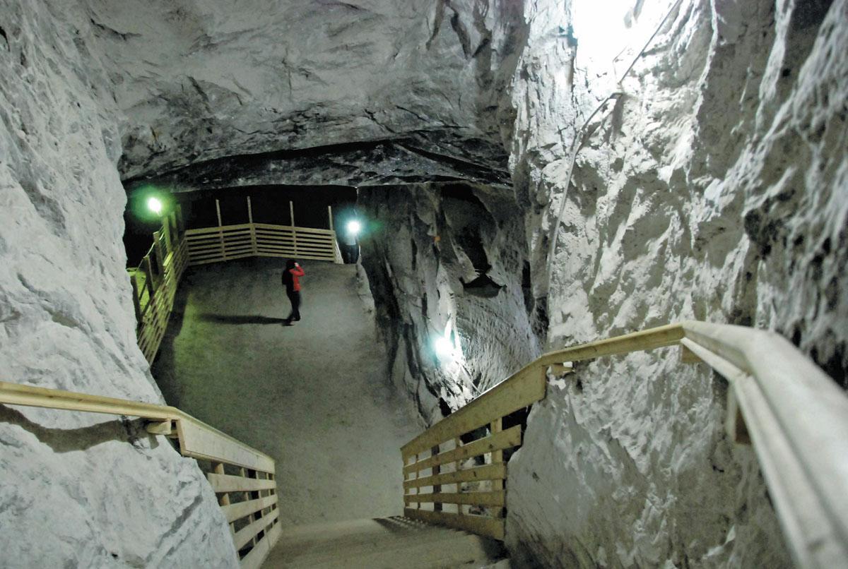 Scările de la intrarea în Salina Cacica