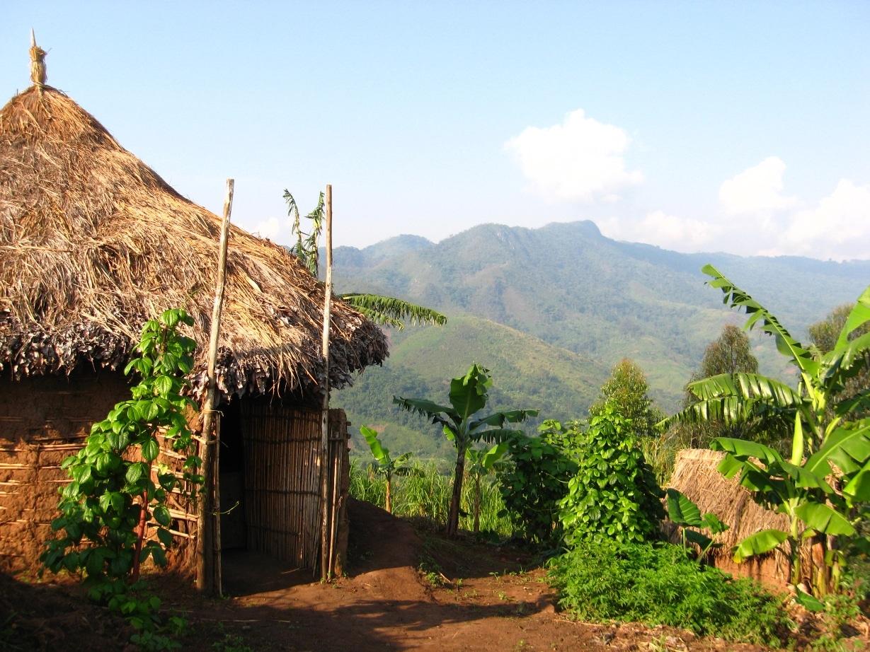 Colibă tradițional congoleză